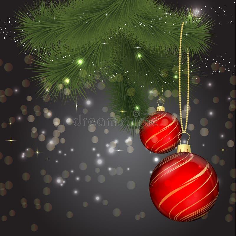 Download Fundo do Natal ilustração do vetor. Ilustração de esfera - 26504956