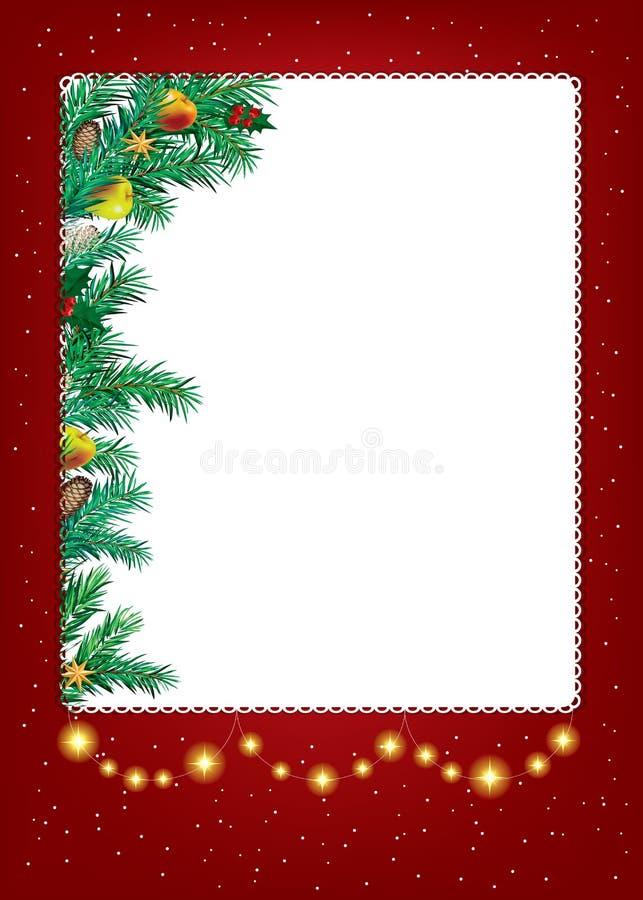 Fundo do Natal abstrato da beleza e do ano novo ilustração stock