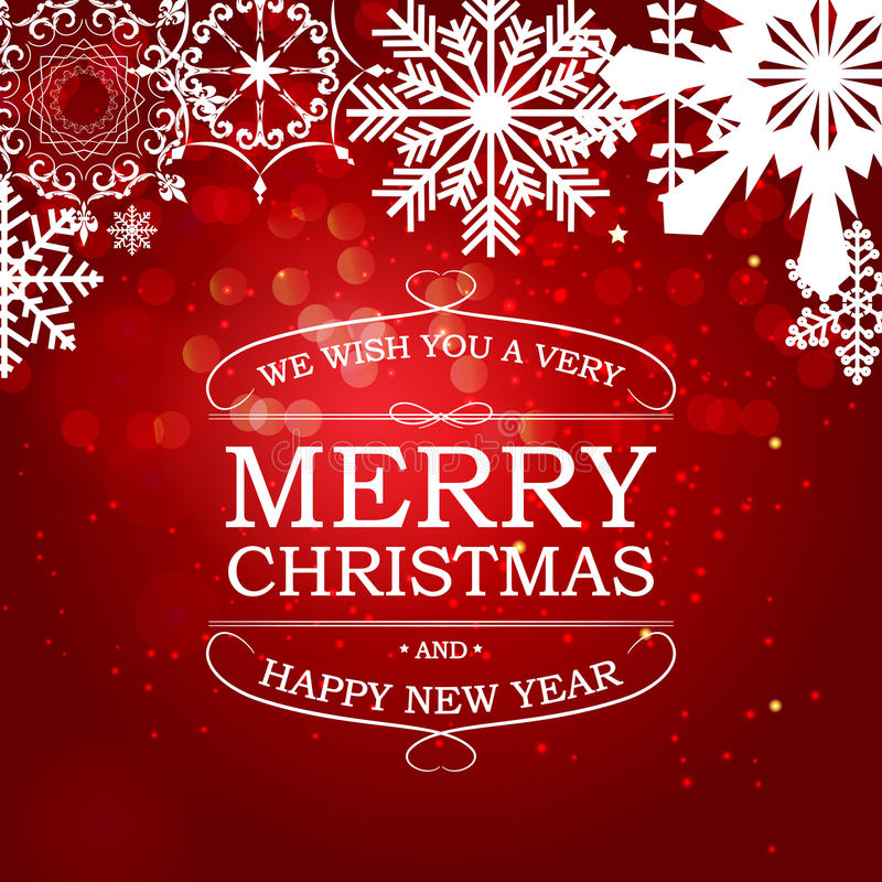 Fundo do Natal abstrato da beleza e do ano novo Vetor Illust ilustração stock
