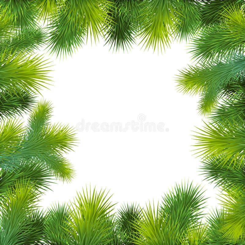 Fundo do Natal com árvore de Natal ilustração do vetor