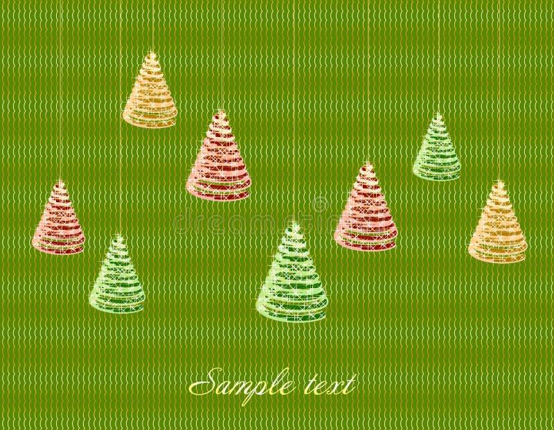 Download Fundo Verde Do Natal Com árvore. Vetor Ilustração do Vetor - Ilustração de frio, brilhante: 29838843