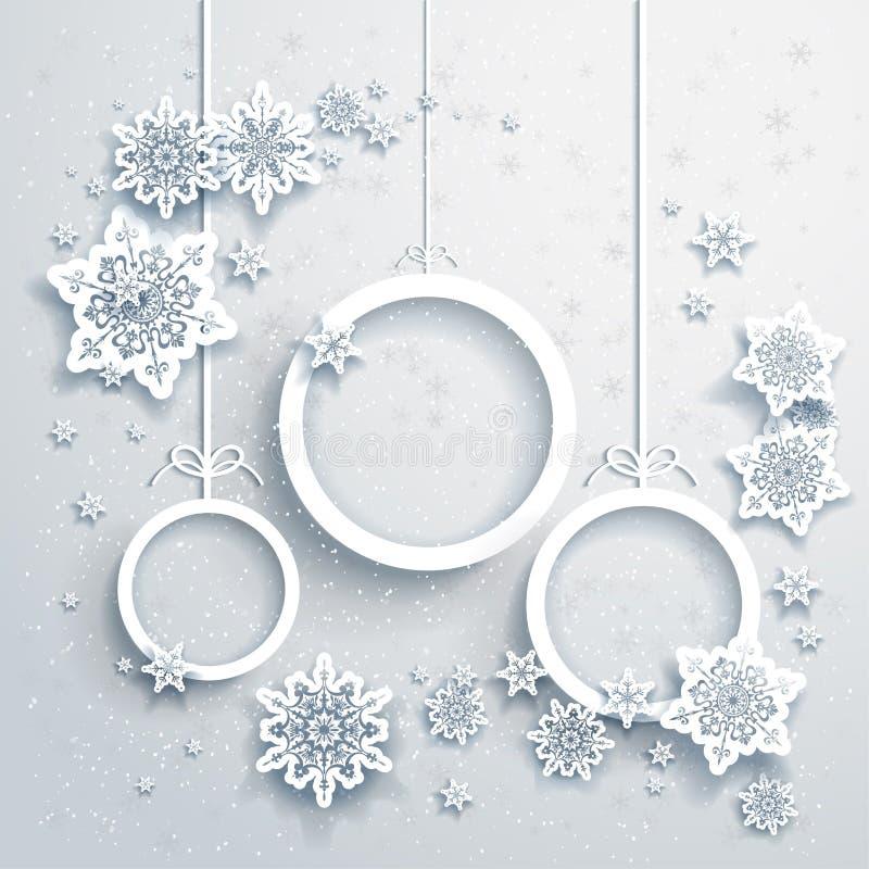 Fundo do Natal com decorações ilustração do vetor