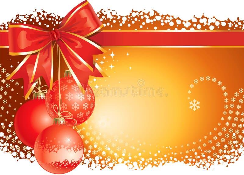 Fundo do Natal com decorações e curva ilustração do vetor