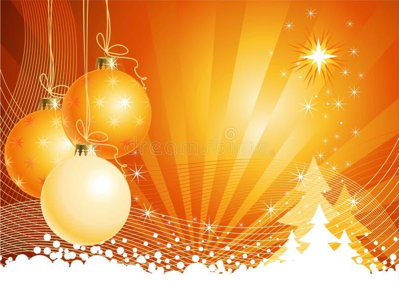 Fundo do Natal com decorações/vetor ilustração do vetor