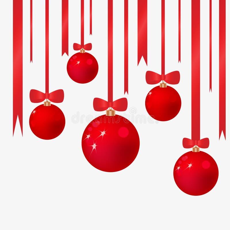 Fundo do Natal com esferas da pele-árvore ilustração do vetor