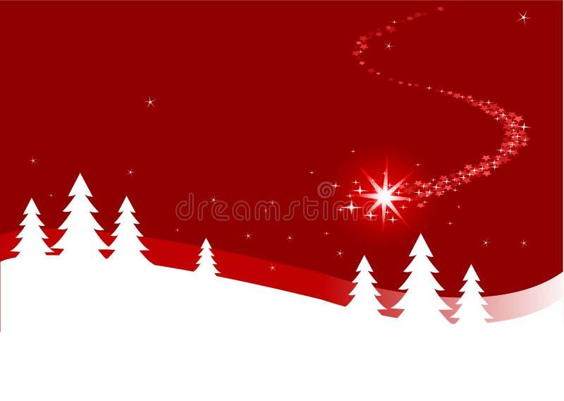 Fundo do Natal com estrela de fechamento ilustração stock