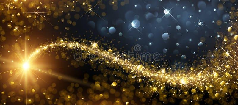 Fundo do Natal com estrela do ouro ilustração stock