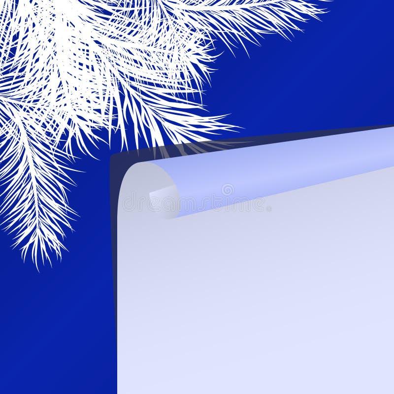 Fundo do Natal com filiais da pele-árvore ilustração do vetor