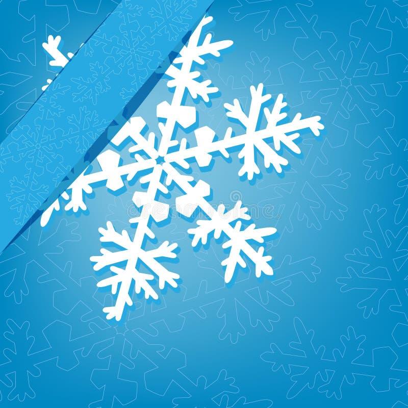 Fundo do Natal com floco de neve ilustração royalty free