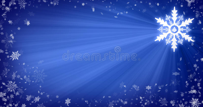 Fundo do Natal com flocos de neve fotografia de stock royalty free