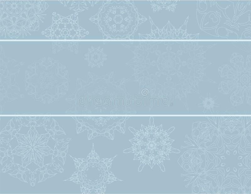 Fundo do Natal com flocos de neve foto de stock