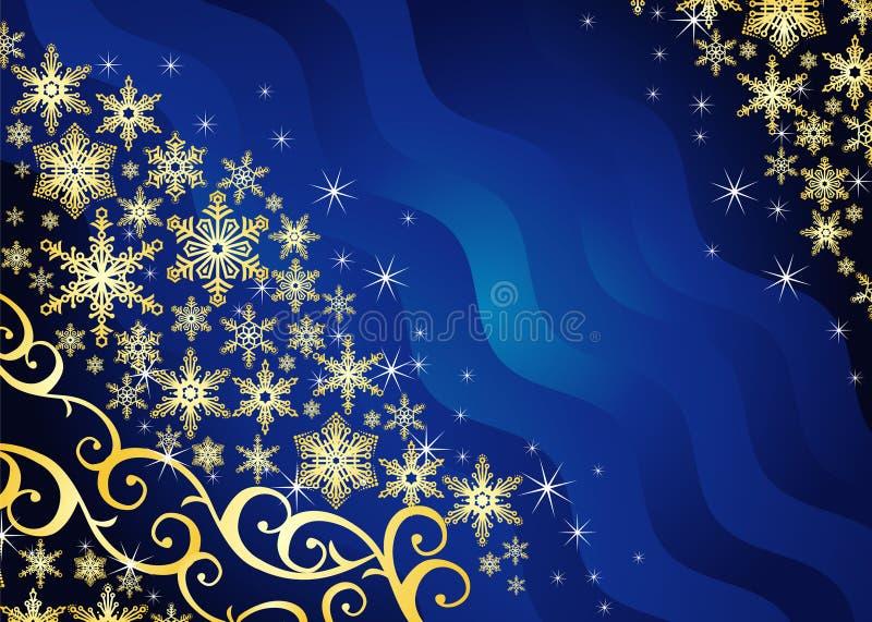 Fundo do Natal/com flocos de neve ilustração do vetor