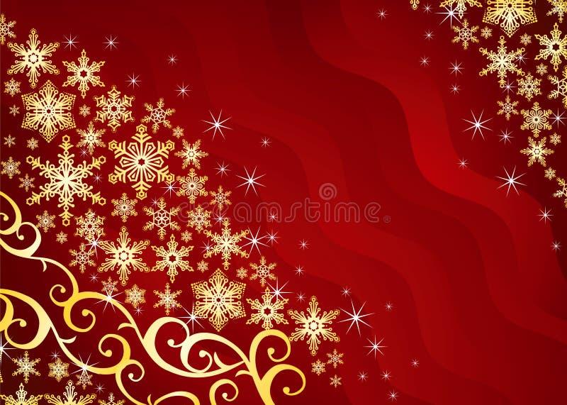 Fundo do Natal/com flocos de neve ilustração stock