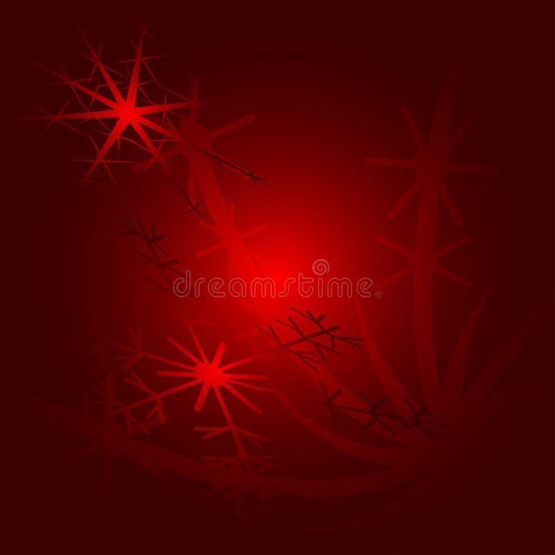 Fundo do Natal com flocos de neve fotos de stock
