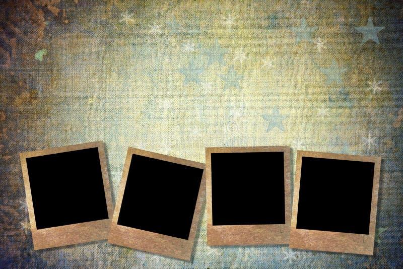 Fundo do Natal com frames da foto ilustração do vetor