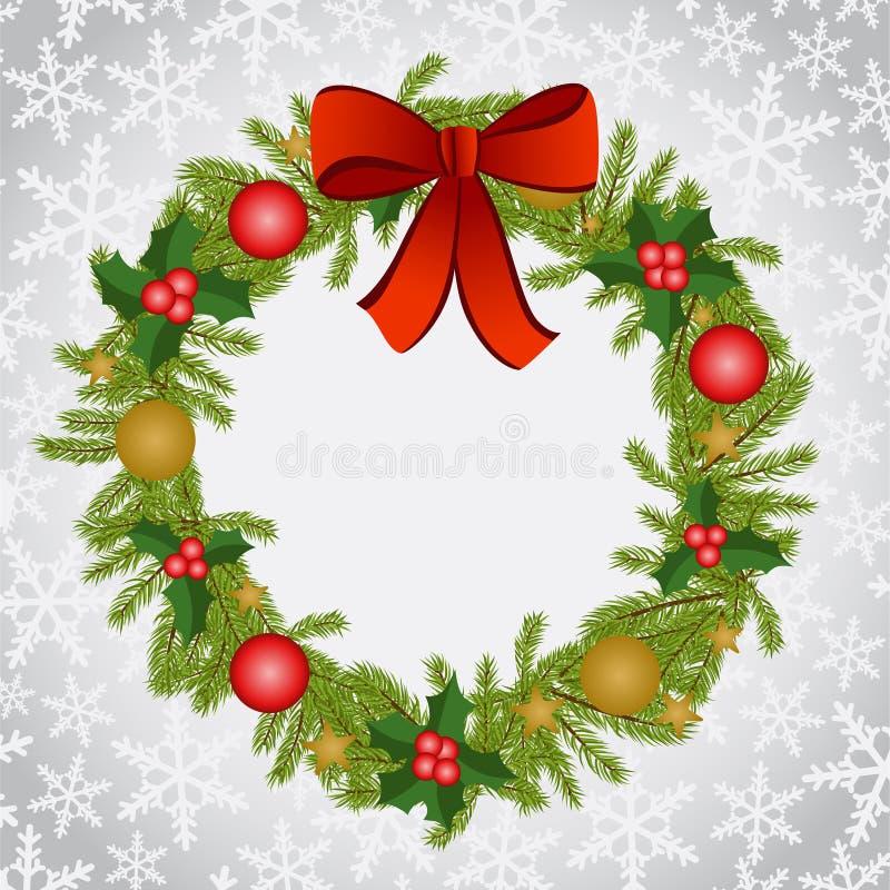 Fundo do Natal com grinalda ilustração royalty free