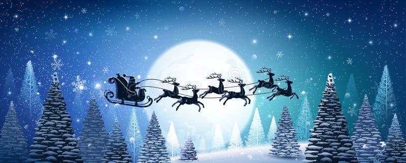 Fundo do Natal com Papai Noel ilustração do vetor