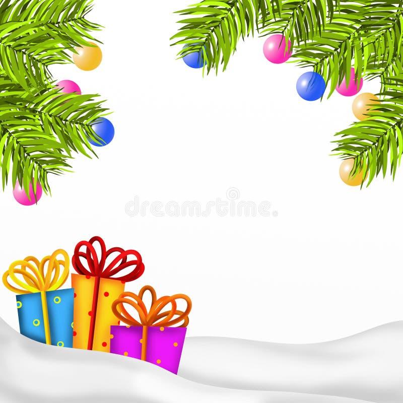 Fundo do Natal com presentes ilustração royalty free
