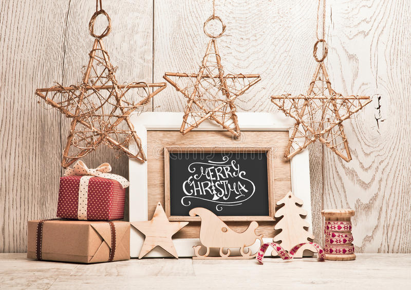Fundo do Natal com presentes imagem de stock royalty free