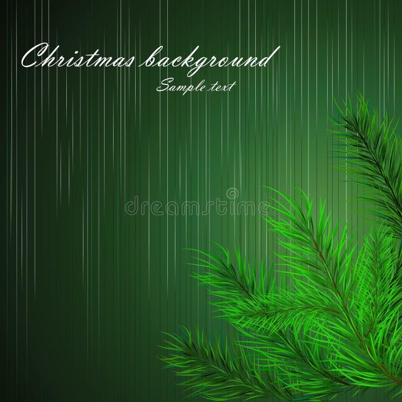 Fundo do Natal com ramos de uma árvore de Natal ilustração royalty free