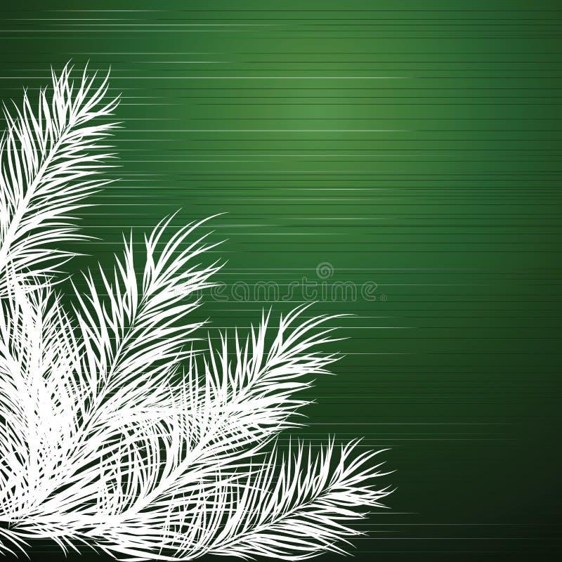 Fundo do Natal com ramos de uma árvore de Natal ilustração stock