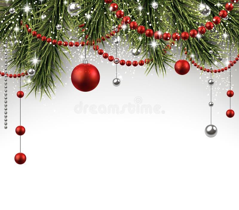 Fundo do Natal com ramos spruce ilustração stock