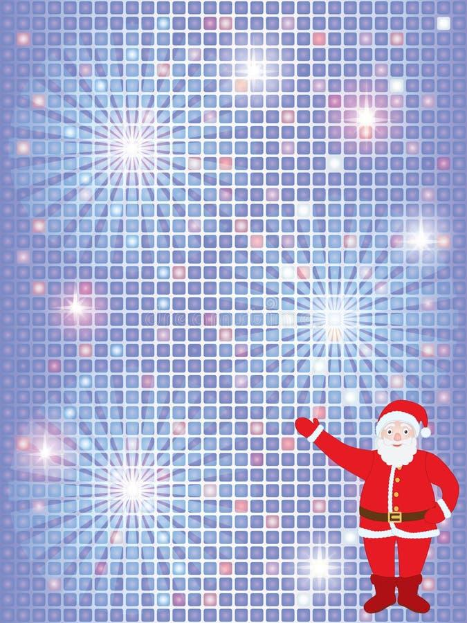 Fundo do Natal com Santa ilustração stock