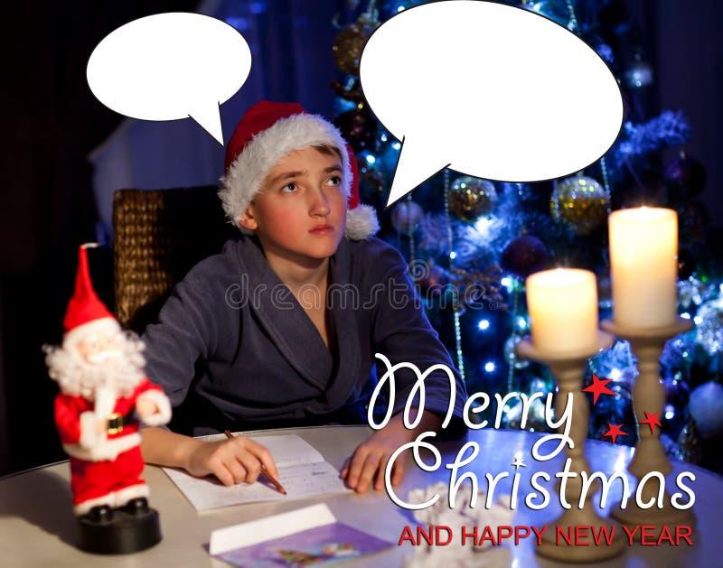 Fundo do Natal com Santa imagens de stock