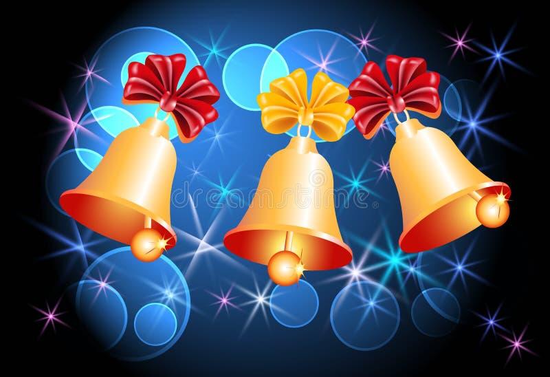 Fundo do Natal com sinos ilustração do vetor