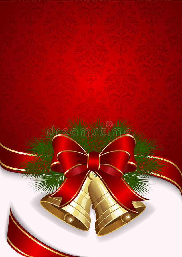 Fundo do Natal com sinos ilustração royalty free