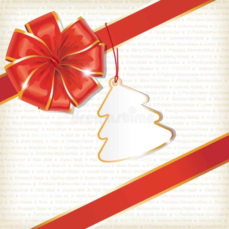 Fundo do Natal com Tag ilustração royalty free