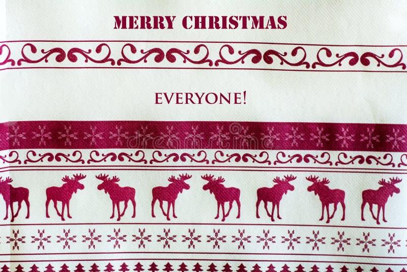 Fundo do Natal com veados vermelhos Feliz Natal todos ilustração stock
