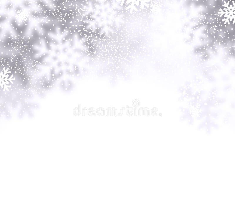 Fundo do Natal da neve ilustração stock