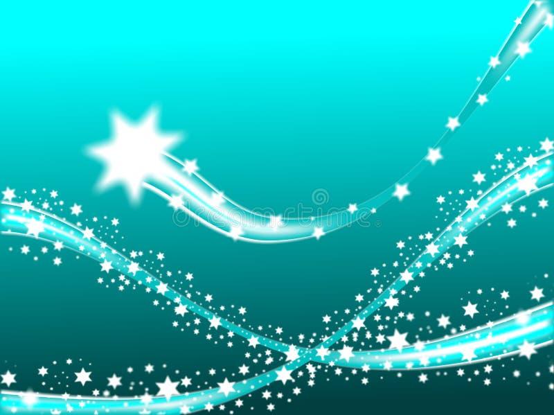 Fundo do Natal das estrelas de tiro ilustração stock