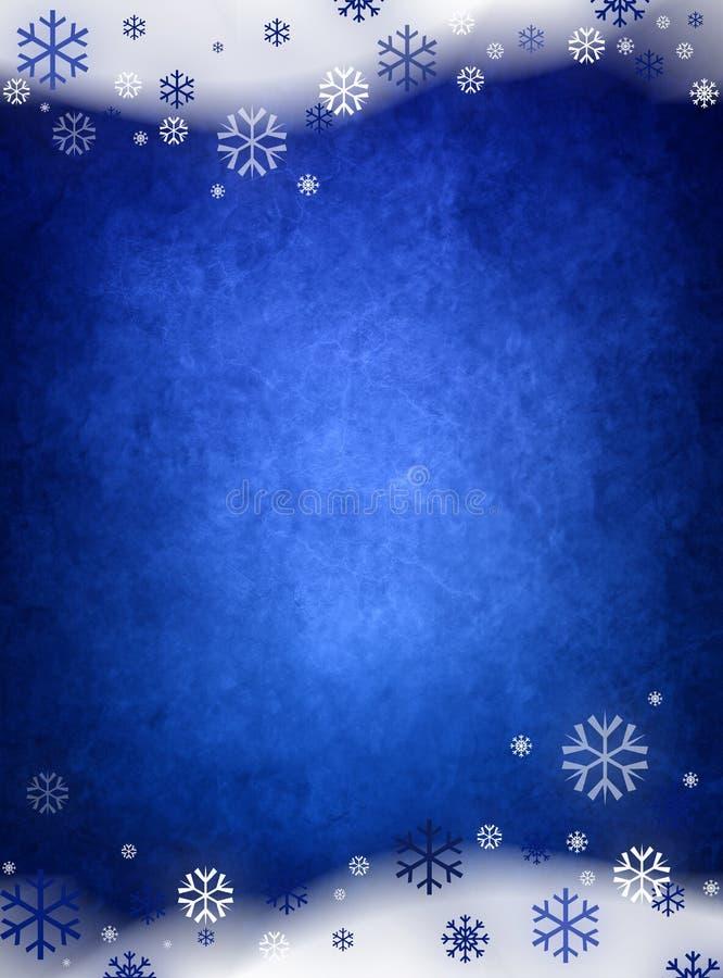 Fundo do Natal do azul de gelo ilustração royalty free