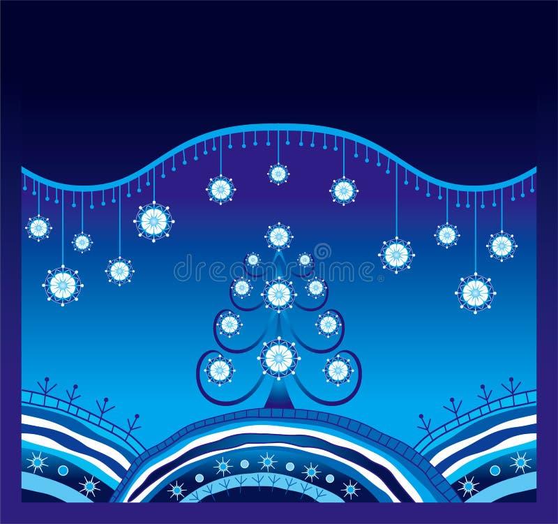 Fundo do Natal do inverno ilustração do vetor