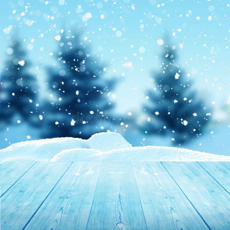 Fundo do Natal do inverno fotos de stock royalty free