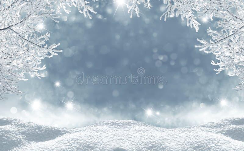 Fundo do Natal do inverno fotos de stock