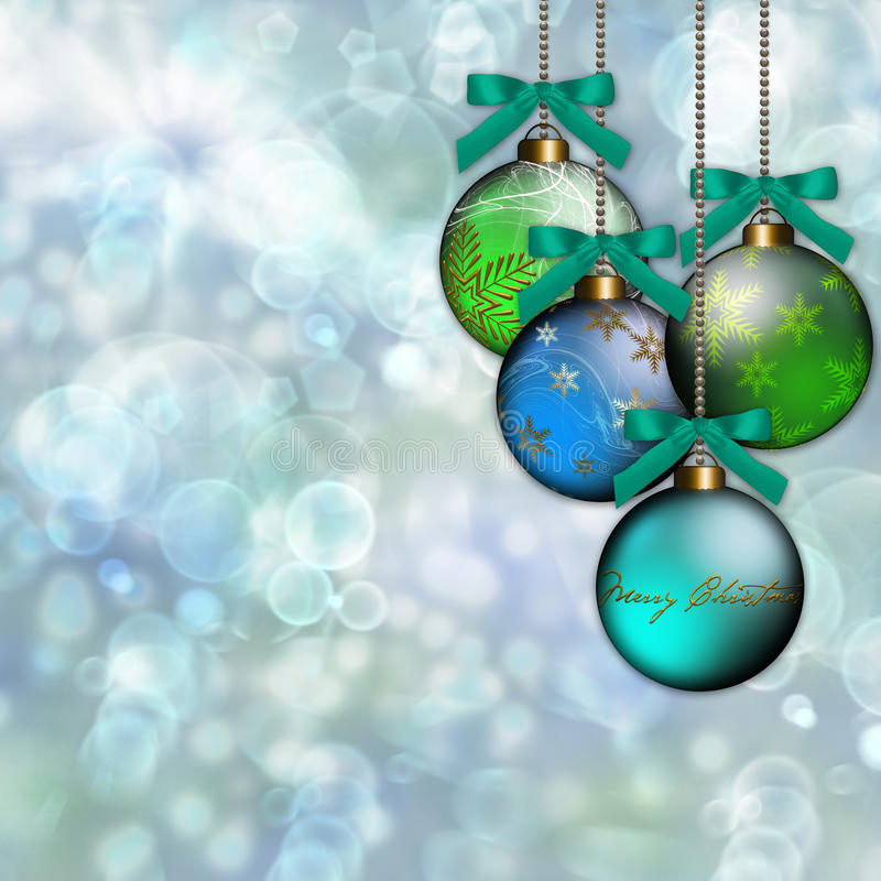 Fundo do Natal do ornamento do verde azul ilustração stock