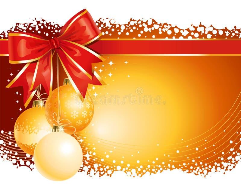 Fundo do Natal do ouro ilustração royalty free