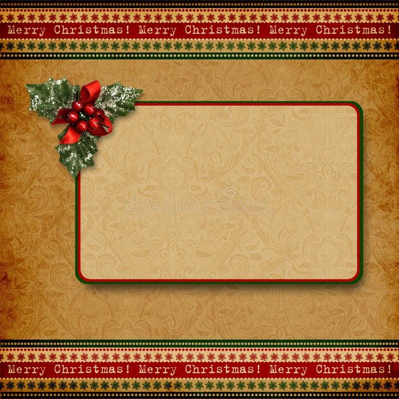 Fundo do Natal do vintage ilustração do vetor