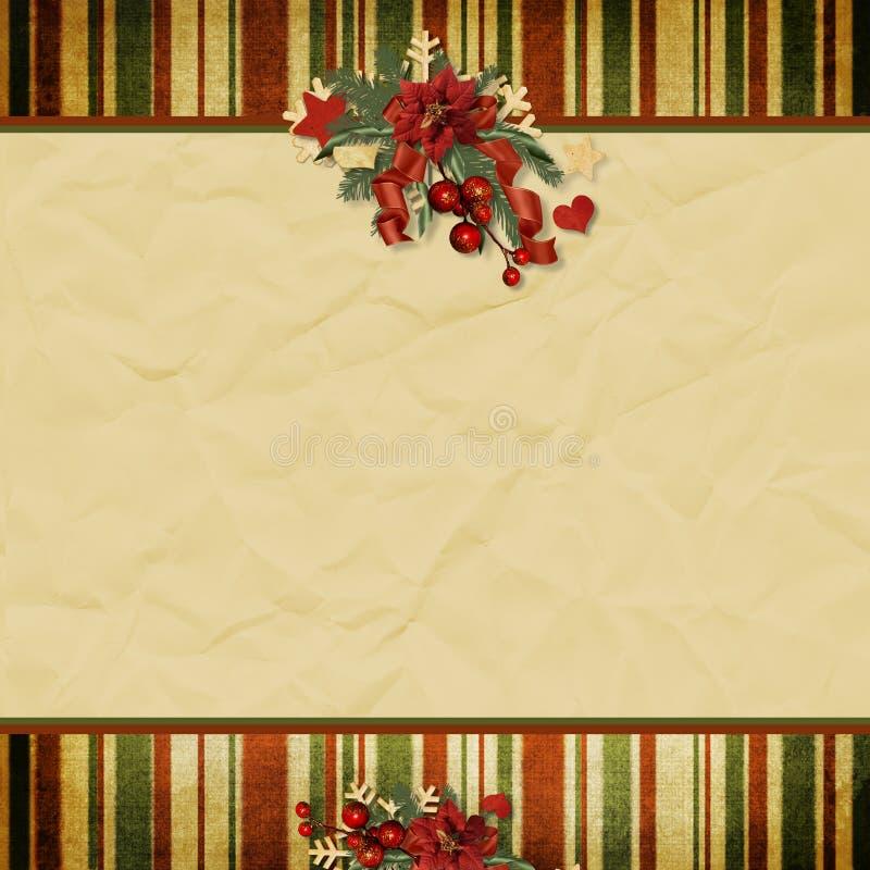 Fundo do Natal do vintage com espaço para o texto   ilustração stock