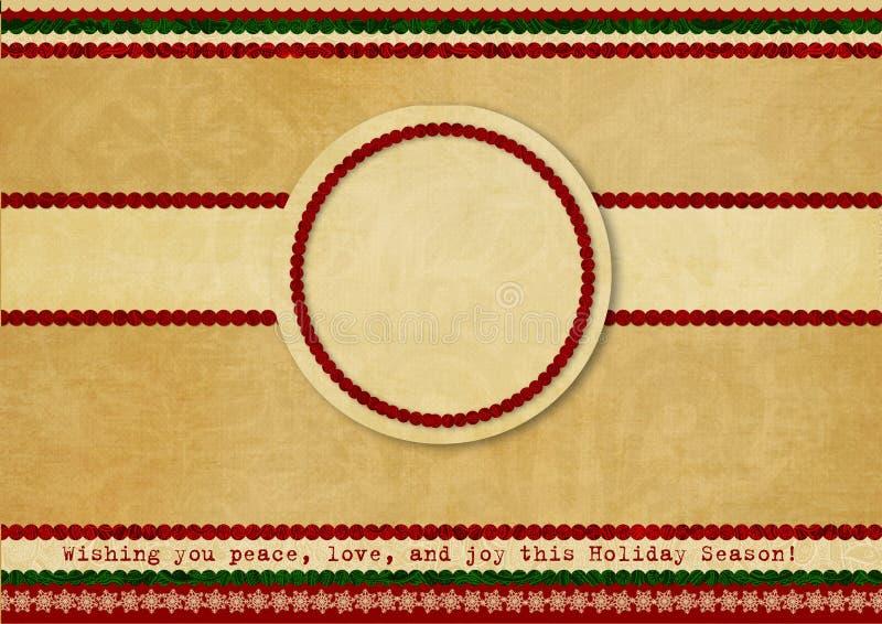 Fundo do Natal do vintage com frame ilustração stock