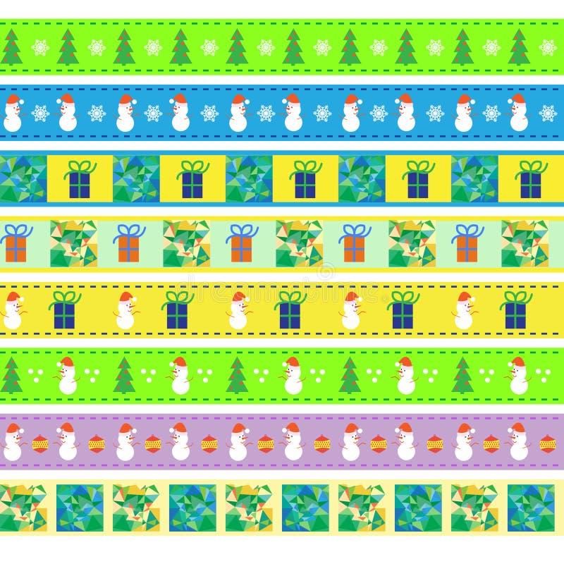 Fundo do Natal do vintage, teste padrão oito sem emenda ilustração royalty free