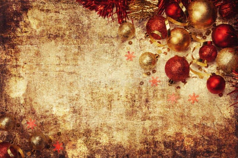 Fundo do Natal e ano novo feliz imagens de stock