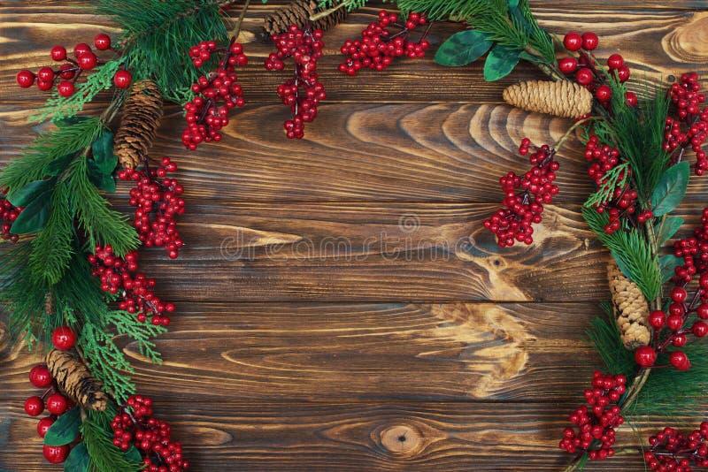 Fundo do Natal Espaço para cumprimentos foto ou texto do feriado cartão festivo do xmas Vista superior Conceito dos feriados do a imagens de stock royalty free
