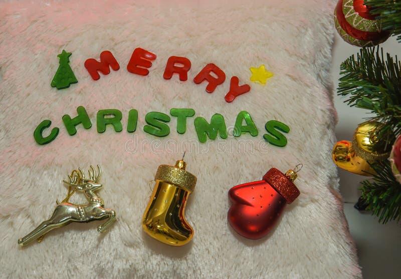 Fundo do Natal festivo e dos cumprimentos da estação foto de stock
