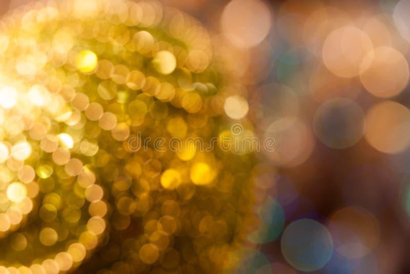 Fundo do Natal Fundo abstrato festivo com luzes e as estrelas defocused do bokeh fotos de stock