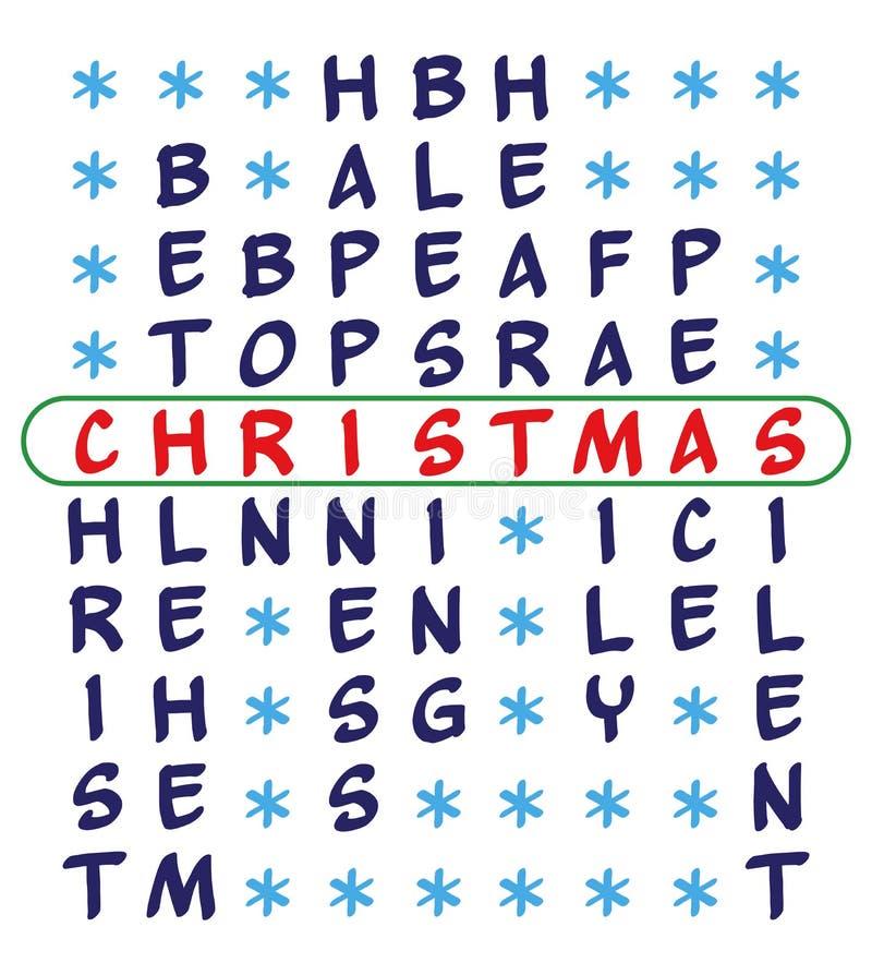 Fundo do Natal - palavras cruzadas ilustração stock