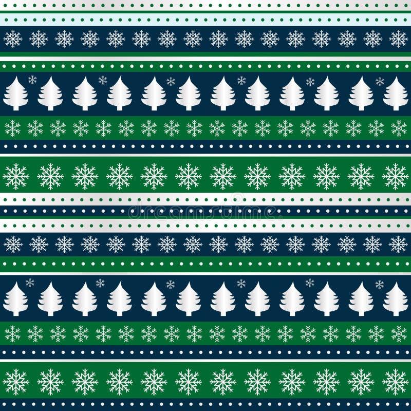 Fundo do Natal para o papel de envolvimento, matéria têxtil, empacotando ilustração do vetor